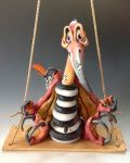 Terrance the Pterodactyl - Ceramic Sculpture by Lucykite