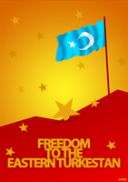Freedom Eastern Turkestan by AY-Deezy