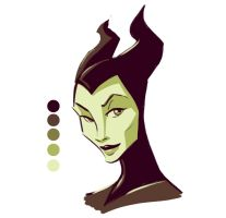 Maleficent - Color Palette Challenge by ComickerGirl