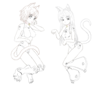 TheCats-LineArt by Cosdark