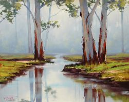 Red River Gums Australia by artsaus