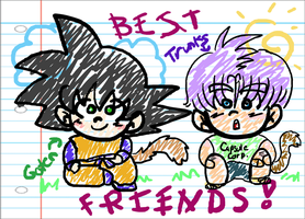 Goten trunks friends scribble by veggiemunky