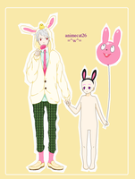 PrussiaXOC-Bunnehs~ by animecat26