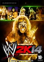 WWE2K14 custom cover The Ultimate Warrior by TheIronSkull