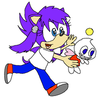 My Baby Chao Can Fly by Kimmy-the-Echidna