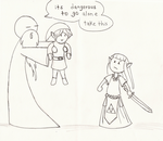 its dangerous to go alone by koimonster22