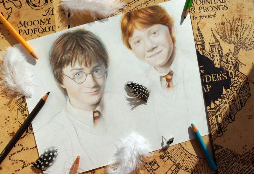 Harry and Ron by Alena-Koshkar
