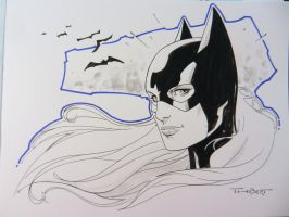 Batgirl sketch from the Dallas Comic Con. by aethibert
