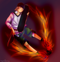~On fire~ by AngelsFeatherDress