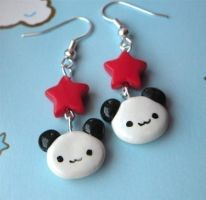 Kawaii Panda Earrings by AsianBunni