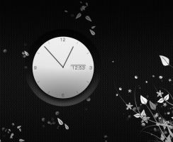 White Analog Clock for xwidget by jimking