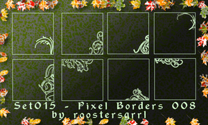Set 015 - Pixel Borders 008 by wolfgrrlone
