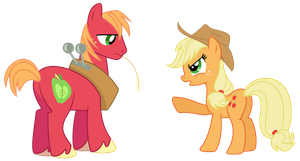 Big Macintosh and Applejack Serious Discussion by TomFraggle