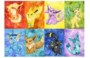 Eeveelution Poster of Awesome by Starrydance