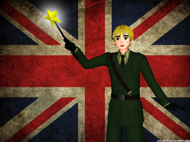 [MMD] England mage by asha1095