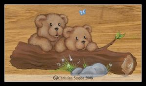 Killarney Teddy Bears by Qiu-Ling
