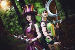 League of Legends : Soraka and Caitlyn by Shappi