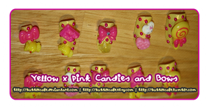 Yellow and Pink Candies and Bows by BubbleCafe