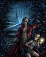 Dante in Silent Hill by Candra