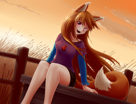 Commission, Holo the wise wolf by JT-Metalli