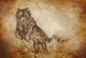 Commission tiger sketch by WindsCaller