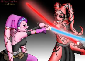 Darth Arul vs Darth Talon by LunaARTemis-S237