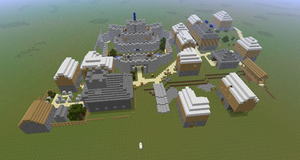 Minecraft - Lumbridge Town by Eirixoto
