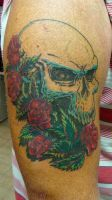 coverup skull finished by pain4money