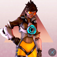 Tracer Portrait by SFM-ShatteredKnives