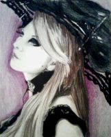 gothic girl with an umbrella by KayceeLynne