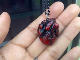 Anatomical heart necklace by Saloscraftshop