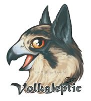 Volkaleptic Badge Commission by GoldenDruid