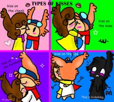 types of kisses DTL by Tati7899Wolf