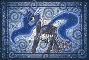 Fancy Luna by raptor007