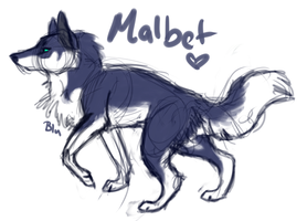 Malbet Speeddraw by BluWinterWolf