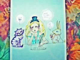 funny time in wonderland? by darkclau