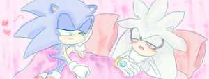 sonic x silver XDD by Icy-Cream-24