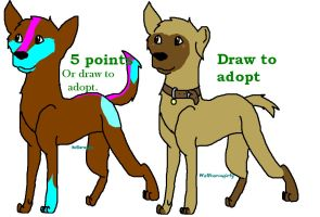 Canine adoptables open by Wolfhorsegirly