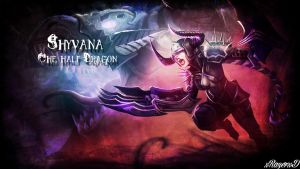 LoL - Darkflame Shyvana Wallpaper ~xRazerxD by xRazerxD