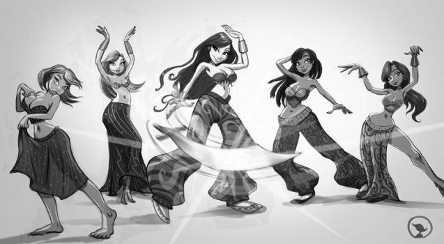 Hanard the Belly Dancer and co. by manicmerganser