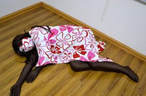 Zentai girl lying in floor by mysexyzentai