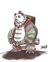 Pandaren Monk WoW by D-Gee