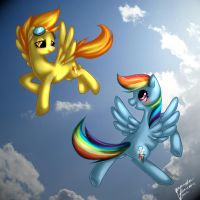 Spitfire and Rainbow Dash by LovelyArtDump