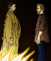 Castiel and Lucifer by mmcfacialhair