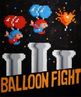 Balloon Fight Box Art by Squarepainter