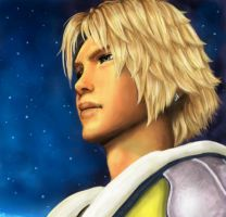 Tidus FFX in the night by majdarts