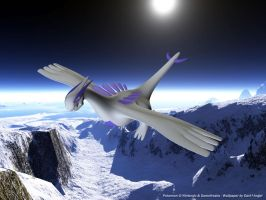 Flying Lugia by AngeloNero