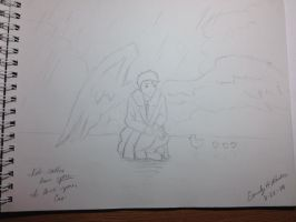 Castiel and Duckiesss by emilyrader16