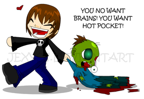 You No Want Brains by Jexyss