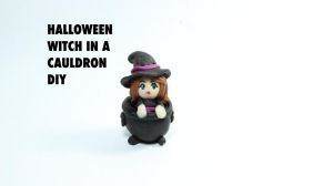 Witch in a Cauldron (VIDEO TUTORIAL) by PipariDesign